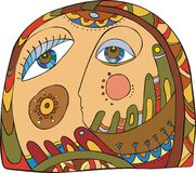 Abstract face Stock Photo