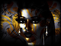 Abstract Face Art, Close Up, Woman Stock Photography