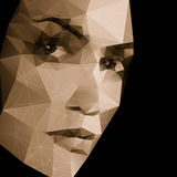 Abstract face geometric background