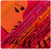 Abstract face pattern. A illustration of music graphic with background Royalty Free Stock Photo