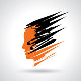 Abstract face vector Stock Image