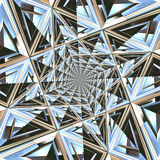 Abstract faceted background. Royalty Free Stock Photo