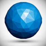 Abstract faceted sphere. Abstract faceted sphere, 3d vector design Stock Image