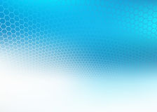 Abstract faded blue hexagon design Background Royalty Free Stock Photography