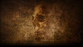 Artistic Abstract Vintage Skull Painted Theme vector illustration
