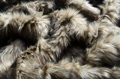 Abstract fake fur background. Abstract fake wolf fur background royalty free stock photography
