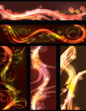 Abstract fall background collection Stock Photography