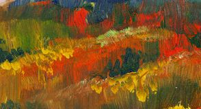 Abstract fall color oil paint background.