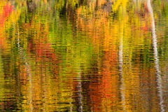 Abstract of fall color reflections stock images