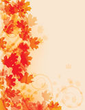 Abstract fall leaf background Stock Photo