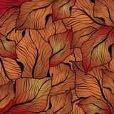Abstract Fall Leaf Pattern Royalty Free Stock Photo