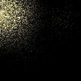 Abstract falling golden lights. Magic gold dust and glare. Festive Christmas background. Vector illustration vector illustration