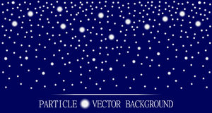 Abstract falling snow particles dark blue background Royalty Free Stock Image