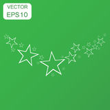 Abstract falling star icon. Business concept stars pictogram. Ve Stock Image