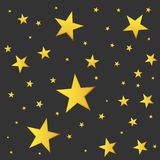 Abstract falling star vector. Illustration with golden christmas Stock Photos