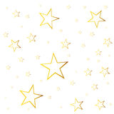 Abstract falling star vector. Illustration with golden christmas Royalty Free Stock Images
