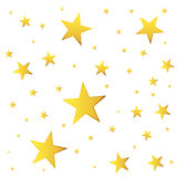 Abstract falling star vector. Illustration with golden christmas Royalty Free Stock Photo