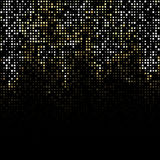 The abstract falling stars. Black background. Stock Image