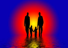 Abstract Family  Royalty Free Stock Photos