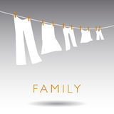 An Abstract Family Concept Royalty Free Stock Images