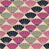 Abstract fan pattern. Based on Traditional Japanese Embroidery. Abstract fan backdrop. Based on Traditional Japanese Embroidery. Colorful Seamless pattern vector illustration