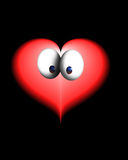 Abstract fanny valentine. Funny valentine heart on a black background vector illustration