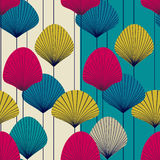 Abstract fans -  seamless pattern Stock Photos