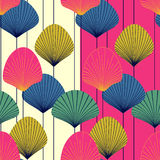 Abstract fans -  seamless pattern. Two abstract seamless  patterns Stock Image