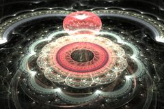 Abstract fantasie 3d ornament op zwarte achtergrond Royalty-vrije Stock Fotografie