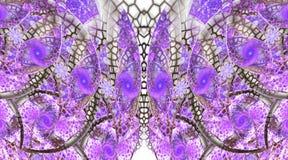 Abstract fantasieornament op witte achtergrond Royalty-vrije Stock Afbeeldingen