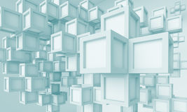 Abstract Fantastic Background. 3d Blue Abstract Fantastic Background vector illustration