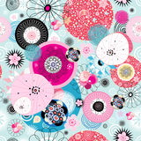 Abstract fantastic bright colored pattern. Of round elements Royalty Free Stock Image