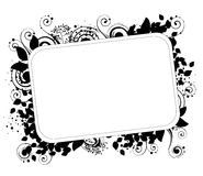 Abstract fantastic floral frame Royalty Free Stock Photo