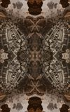 Abstract fantastic poster or background. Futuristic view from inside of the fractal. Architectural pattern. 3D Royalty Free Stock Photography