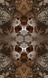Abstract fantastic poster or background. Futuristic view from inside of the fractal. Architectural pattern. 3D Royalty Free Stock Images
