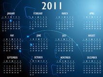 Abstract fantasy 2011 Calendar. Vector illustration Royalty Free Stock Image