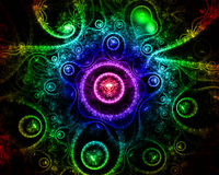 Abstract fantasy background with heart shapes Stock Photo