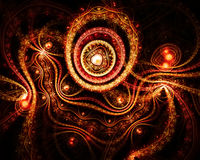 Abstract fantasy background with heart shapes Royalty Free Stock Image