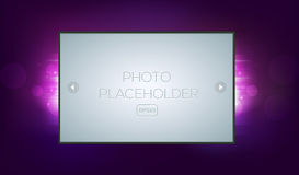 Abstract fantasy background with photo frame Stock Photo