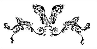 Abstract fantasy butterfly tattoo Stock Photo