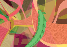 Abstract Fantasy Dragon Color Vector. Abstract illustration of dragon in Stock Photo