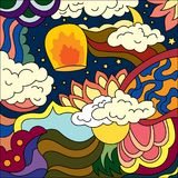 Abstract fantasy drawing colorful art vector background.  Royalty Free Stock Images
