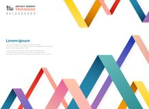 Abstract fantasy gradient color of overlapping triangles shape pattern vector illustration