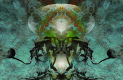 Abstract Fantasy Green Background Royalty Free Stock Photography