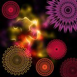 Abstract fantasy image Geometric and amorphous elements Stock Images