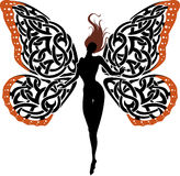 Abstract Fantasy Lady Butterfly Royalty Free Stock Image