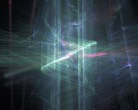 Abstract, fantasy science dynamic glow rendering, light design background digital, fractal, power science. Abstract, fantasy, background digital fractal, power royalty free illustration