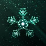 Abstract fantasy snowflake illustration Stock Images