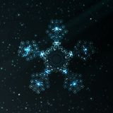 Abstract fantasy snowflake illustration Stock Photography