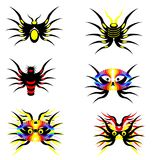 Abstract fantasy spiders Stock Photography